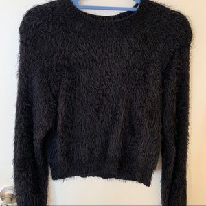 Fuzzy Black Forever 21 Sweater